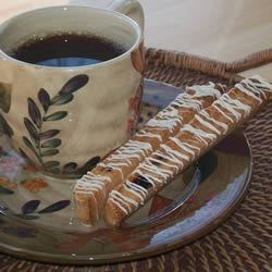 Orange Almond Biscotti II Recipe - These biscotti are very low in fat but they are delicious. You can substitute the almonds with 3/4 cup cranberries.
