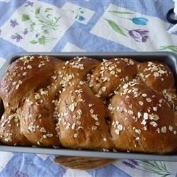 Oatmeal Molasses Bread Recipe - Oatmeal Molasses Bread via the bread machine.   I often just use the dough cycle, take the dough out when done, and let it rise on more time. I then bake it in the oven at 350 degrees F (175 degrees C) for about 28 minutes.  The texture is just like a real homemade loaf. Enjoy!!!!!