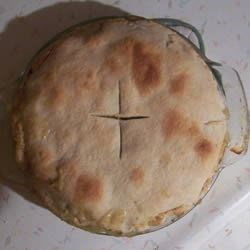 Crust for Veggie Pot Pie Recipe - This recipe makes enough dough to fit an 11x7 inch dish  - top and bottom. Perfect for all your savory pies.