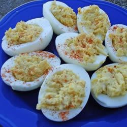 Spicy Italian Deviled Eggs