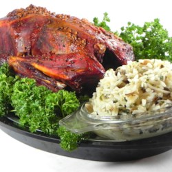 Buckshot Duck with Wild and Brown Rice Stuffing