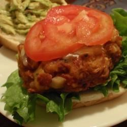 Mexican Bean Burgers Recipe - These burgers can be baked, grilled, or fried.  Great served on a bun with avocado, lettuce, sour cream, and cheese.