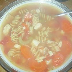 turkey frame soup