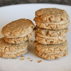 Oatmeal Peanut Butter Cookies III Recipe - These are so close to the Girl Scout oatmeal peanut butter cookies that you  won't know the difference!