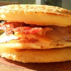 Bacon Egg and Cheese Pancake Sandwich