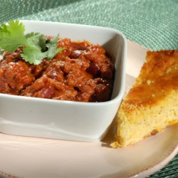 Debdoozie's Blue Ribbon Chili Recipe and Video - Prepared salsa and chili seasoning mix speed preparation of this easy version of chili. Serve over cornbread or with crackers. Add jalapeno peppers for more heat.