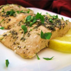 Baked Salmon II Recipe - Here's a great recipe for baked salmon that is not only delicious, but also quick and easy. Fresh parsley and lemon juice keeps this dinner light.