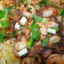 Thai Shrimp and Cabbage