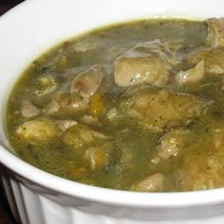 Chile Verde II Recipe - A delicious Mexican dish of pork simmered in tomatillos and chiles.