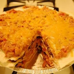 Five Layer Tortilla Pie