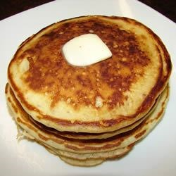 Banana Brown Sugar Pancakes Recipe - This recipe I made because I wanted to use up some instant banana oatmeal I had.  I don't use syrup on it because of the sweetness from the oatmeal and brown sugar.