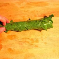 Rolled Beet Greens