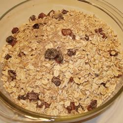 Super Hot Cereal Mix Recipe - An easy-to-make and versatile hot cereal mix with oatmeal, brown sugar, and dried fruit.