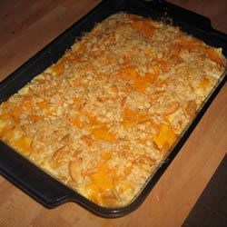 Sour Cream Cheese Casserole Recipe - Smooth and creamy, with cream cheese, creamed soups, sour cream ...oh--and some chicken, too.
