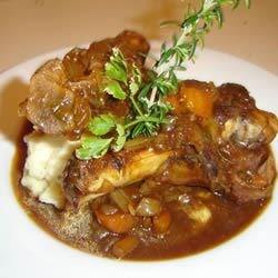Stout-Braised Lamb Shanks