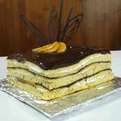 Apricot Brandy Cake Recipe - Apricot brandy, vanilla pudding and pecans dress up a yellow cake mix.