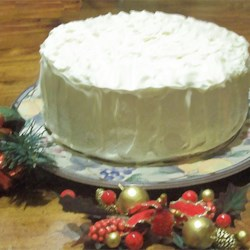 White Chocolate Cake Recipe - This is a very heavy white chocolate cake with a white chocolate frosting. It is a family favorite that is requested at every family gathering.