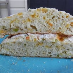 Jim's Cheddar Onion Soda Bread Recipe - Quick soda bread flavored with onion and Cheddar cheese is the perfect go-with for your St. Patrick's stew or corned beef dinner. But it's so fast and versatile, you'll make it for just about any soup dinner.