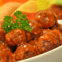 Tangy Horseradish Tomato Sauce For Meatballs Recipe - A slow-cooked zippy tomato sauce thickened with tapioca and flavored with mustard and horseradish makes a nice, tangy sauce for your favorite meatballs. Just mix it all together and let the cooker do its thing.