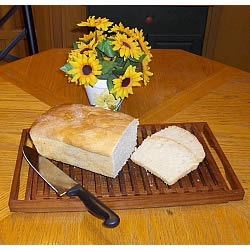 Sourdough Bread I Recipe - Once you have an established sourdough starter, this bread is easy to make.  Be prepared to wait, however, as the first rise occurs overnight.