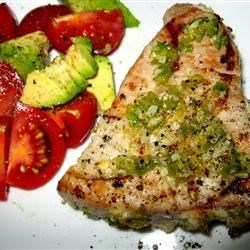 Grilled Jalapeno Tuna Steaks Recipe - These tuna steaks are marinated with the flavors of jalapeno, garlic, and lime.