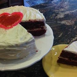 Southern Red Velvet Cake Recipe - A delicious red velvet cake recipe made with a light and buttery frosting instead of the usual cream cheese.