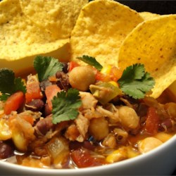 Easy and Tasty Chicken Tortilla Soup Recipe - This simple version of chicken tortilla soup uses canned soup, beans, and tomatoes to help get dinner to the table quickly.