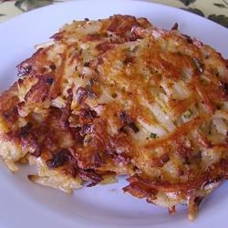 Cajun Potato Latkes Recipe - Cajun seasoning makes these savory potato latkes a little bit different.