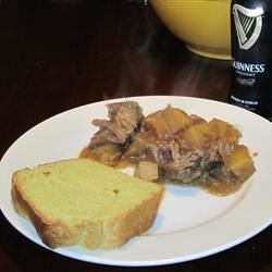 Irish Stout Beer Pot Roast Recipe - The addition of beer makes this pot roast extra moist. Serve it with some crusty bread--you'll want something to soak up all that delicious gravy!