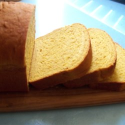 Pumpkin Yeast Bread Recipe - Slightly sweet, this pumpkin yeast bread is deftly spiced with cinnamon, nutmeg and ginger.