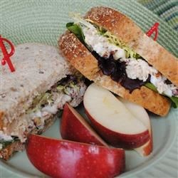 Tempting Tuna Salad Recipe - Apple, hard-boiled egg, and toasted pecans are a nice addition to this tuna salad. Serve over crisp lettuce or in a sandwich.