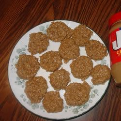 No-Bake Peanut Butter Cookies III Recipe - These cookies were always served for school lunch.  I got the recipe after marrying from one of the cooks, and have made it many times since.  This cookie generally is seen with cocoa, but I like this one better, it doesn't have any.