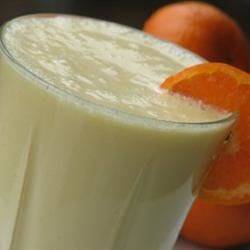 Orange Cream Milkshake Recipe - Our family loves milkshakes in the summer to cool off. The creamy orange flavor of this shake was a big hit.
