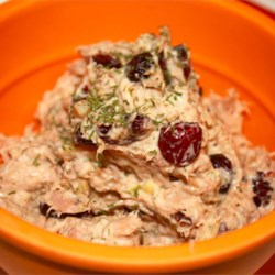 Tuna Salad with Cranberries Recipe - This simple, unusual recipe will yield the best tuna sandwiches you've ever had! Try on potato bread for a comforting, yummy treat!