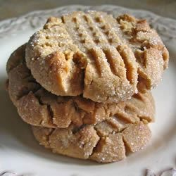 Best Peanut Butter Cookies Ever Recipe and Video - Kids will love to help make these easy, flourless peanut butter cookies.
