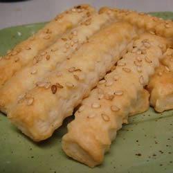Sesame Stick Snacks Recipe - Make your own crunchy sesame sticks with this quick and easy recipe.