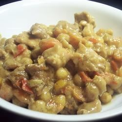 African Chicken Stew Recipe - Inspired by authentic West African cooking, this delicious stew combines vegetables and peanut butter with a little heat from a medley of spices.  Alter the recipe to suit your preferences--it lends itself beautifully to improvisation.