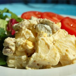 Chicken Potato Salad Recipe - The addition of chicken to this picnic essential lets it do double duty as main dish or side salad.