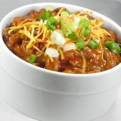 Drunk Deer Chili Recipe - This stew combines ground venison with beef and pork simmered with bourbon and beer.