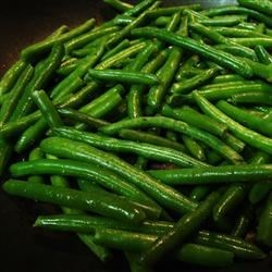 Sauteed Green Beans Recipe - Sauteed green beans with bacon and slivered almonds.  I made this as a side for Easter dinner this year and everyone raved!