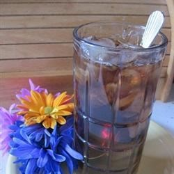 Sweet Iced Tea Recipe - Cool and refreshing summer drink made with SPLENDA(R) Granulated Sweetener instead of sugar. Serve in a tall glass over ice.