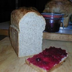 Whole Wheat Bread Super Fiber Chewy and Moist