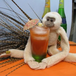 Drunk Monkey Recipe - This drink is tropical, fruity, and soooo refreshing! A great summertime drink.