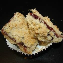 Jammin Good Bars Recipe - Sweet and simple little bar cookies with a tasty layer of raspberry preserves through the middle.