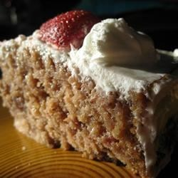 Jesse and Steve's Fresh Strawberry Cake Recipe - Light, refreshing, sweet-tart and berry-infused, this moist strawberry cake is a perfect after-dinner treat.