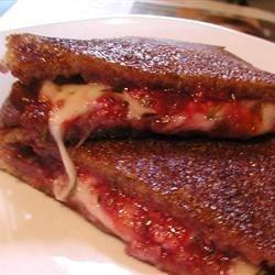 Giada's Raspberry, Rosemary and Mozzarella panini