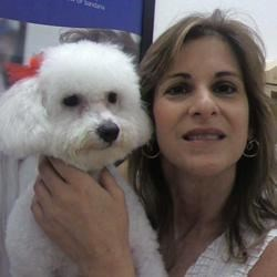 Me with my Bichon