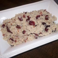 Quinoa-Cranberry Salad with Pecans Recipe - A very easy salad and a nice twist on the usual cranberry-pecan salad with contrasting flavors and textures. It's nice in the fall or winter with a bowl of pumpkin soup!