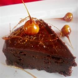 Nutella Cake with Chocolate Hazelnut Ganache and Caramel-Dipped Hazelnuts