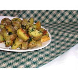 Cilantro and Garlic Potatoes